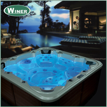 6 people acrylic whirlpool free standing balboa bathtub hot tubs spas bath tub with sex massage