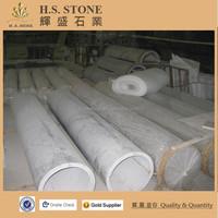 Carrara white marble column pillars indoor outdoor decorative pillars