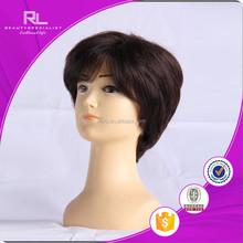 Brazilian Natural Gray Hair Full Lace Short Bob Wigs for black women
