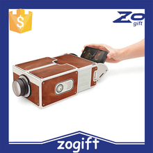 ZOGIFT 2015 New Smartphone mini led Projector 2.0 DIY Cardboard Mobile Phone Projector