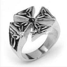 Custom Silver Ring Alloy Cross man jewelry