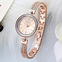 Luxurious Ladies Alloy Bracelets Watch Slim Small Bangle Wrist Watch with Waterproof Life 3 Bar
