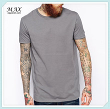 Top quality wholesale clothing t-shirt long length relaxed skater fit soft touch jersey man t-shirt