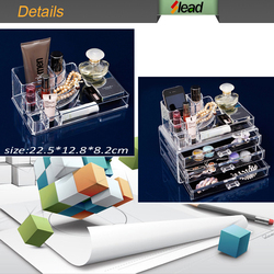 Acrylic aluminium case cosmetic makeup case