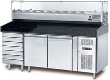 Refrigerated Pizza&Salad Prep Table,Pizza, Sandwich and Salad Bar