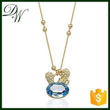 Rhodium plated Platinum Plated high quality necklace cheap initial necklaces, necklace 14k