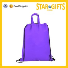 Promotional cheap printed shopping bags waterproof drawstring shopping bag