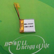 UN38.3 approved 3.7V Rechargeable Battery /032323 Rechargeable Li-Polymer 3.7V 110mAh Battery / Smallest 3.7V Li-Polymer Battery
