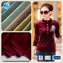 92% Polyester 8% Spandex Knitted Fabric Korea Velvet Fabric