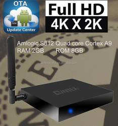 S812 quad core android tv box set top box internet tv box wifi 3D support