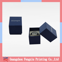 Custom made individual design luxury cardboard packaging box for watch with pillow custom jewelry box