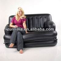Chesterfield inflatable furniture chair, cheap 5 in 1 folding air sofa cum bed