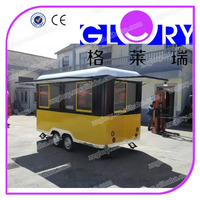Coffee,juice,catering trailer food truck/mobile food cart trailer for ice cream