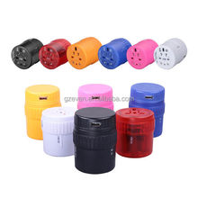 all in one travel adapter female to male electrical plug adapter with usb