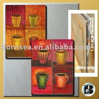 colourful cups Oil painting