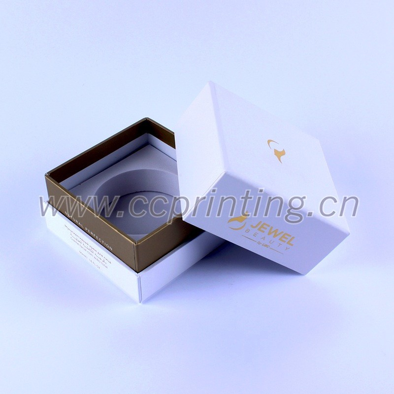 White color Cardboard Cosmetic box with divider for Jars (4).jpg