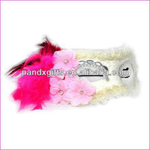 white feather wedding dance lace party masks with roses for party dress
