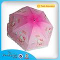 Fábrica de guarda-chuva na china impressão kitty guarda-chuva dos miúdos