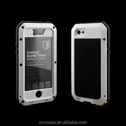 Shockproof Waterproof Metal alumiumn unbreakable phone cases for iphone 5 5s phone case