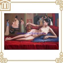 Pintado a mano hermoso clásica mujeres desnudas