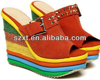 Rainbow very high eva platfrom shoes colorful high platform shoes XT08 -S102147