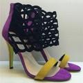 Vida whisper moda últimas altos talones sandalias casuales estilo europeo señora de los altos talones