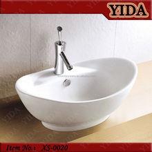 nice design toilet basin in bathroom, art basin with faucet hole, Europe industrial wash basins