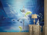 wholesale Eco-friendy 3d huge classic mural beautiful dancing underwater for bedroom sofa tv washable wallpaper murals