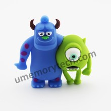 Mike Wazowski and James P. Sullivan animal usb flash drives from Monsters University