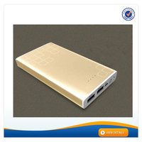 AWC703 Dual Output Mobile Phone Battery Charger for Samsung 7500 15000 mah Power Bank