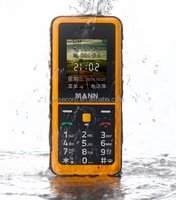 Rugged Phone MANN Q2 1.77 Inch Display 128*160 Pixel Bluetooth GPS Waterproof Dustproof Shockproof IP67 Certified Cell Phone