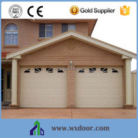 Window inserts steel sectional garage door