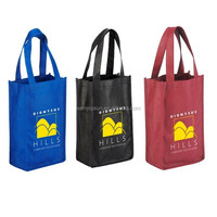 Custom Logo PP Non-woven Shopping Wine Bottle Bag