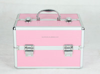 High quality aluminium double open multi-functional cosmetic case, delicate and practical double open jewelry case with lock