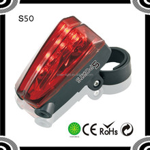 POPPAS S50 Flash Mode Cycling Safety IPX4 Waterproof bike tail Warning Led Bicycle laser Light