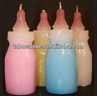 pink baby bottle candle/Pink Baby Bottle Wedding Candle Favor