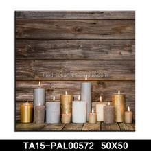 New style light up candle led canvas paintings