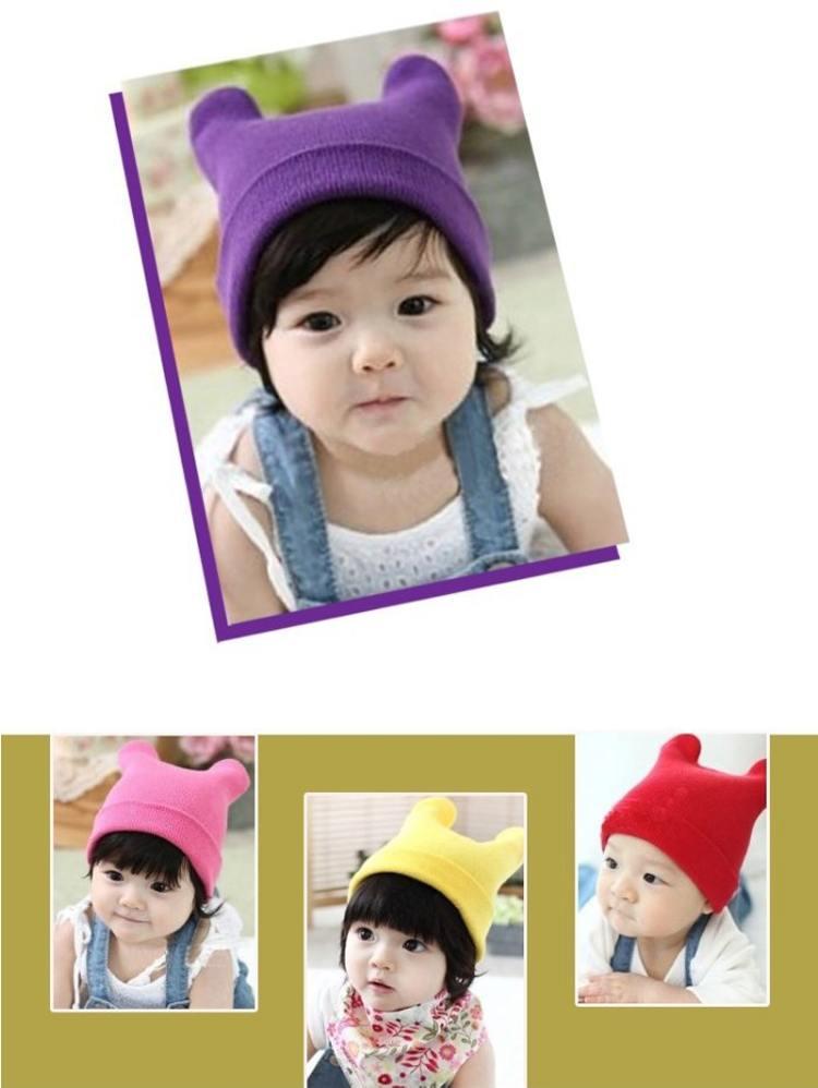 1 x новых корейских милый кот уха шляпа baby детские детей детской моды колпачок шапочки-ушанки ctpas