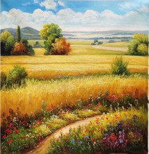 Handpainted Palette Knife Rural Landscape Oil Paintings,Home Decor