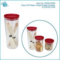 Clear Plastic Bread Box And Canister Set