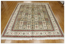 8x10 Pure Silk Moquette Carpet,Handmade Carpet Persian Silk Rug