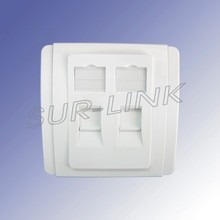 86 Type Dual Face Plate 2 Port Wall Outlet Surlink