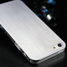 Custom brushed design stainless steel mobile phone metal case shell cover for Iphone 5 5S