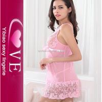 online shop erotic woman elegant pink babydoll of sex nighty design