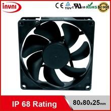 SUNON 8025 80mm 80x80 Exhaust Laptop 12V DC Axial Flow IP68 Dustproof & Waterproof Outdoor Fan 80x80x25 mm (GF80251B2-0000-AE9)