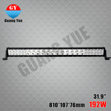 New one row 120w led work light bar, auto part 192w combo beam 31.9'' led light bar for jeep wrangler,boat,truck