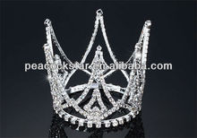Wholesale Bridal Wedding Bride / Flower Girl Crystal Full Circle Round Mini Tiara Crown CT1706
