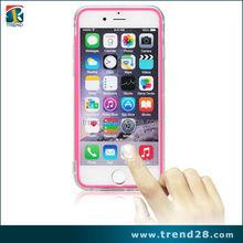 fashion design touch screen transparent flip case for iphone 6 plus