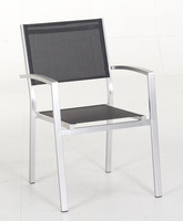 Aluminum sling stacking chair for outdoor