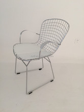 Bertoia arm chair/metal chair/wire chair with arm